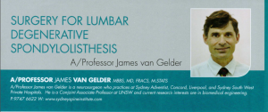 Surgery for lumbar degenerative spondylolisthesis - SAN DOCTOR Summer 2015