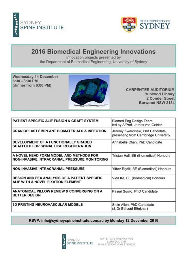 2016 Biomedical Engineering Innovations